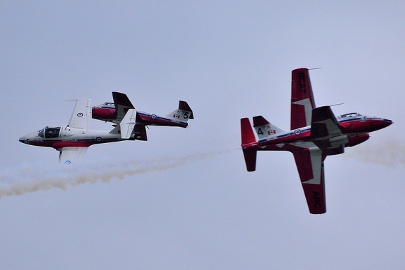 The Canadian Snowbirds Head On