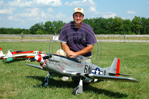 Steve Forrest with P-51, Kansas City Kitty
